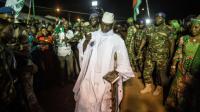 Le président gambien sortant Yahya Jammeh à Brikama, en Gambie, le 24 novembre 2016 [MARCO LONGARI / AFP/Archives]