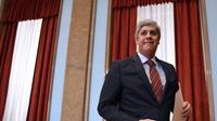 Le ministre portugais des Finances Mario Centeno lors d'une conférence de presse à Lisbonne, le 30 novembre 2017 [Francisco LEONG / AFP/Archives]