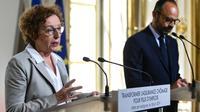 La ministre du Travail Muriel Pénicaud présente la réforme de l'assurance chômage lors d'une conférence de presse à Matignon, le 18 juin 2019 [Lucas BARIOULET / AFP/Archives]