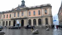 Le siège de l'Académie suédoise, le 3 mai 2018 à Stockholm [Fredrik SANDBERG / TT NEWS AGENCY/AFP]