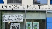 Des graffitis sur un mur de l'université Jean-Jaurès à Toulouse le 30 avril 2018 [PASCAL PAVANI / AFP/Archives]