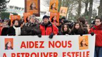 Marche en souvenir d'Estelle Mouzin, le 9 janvier 2010 à Guermantes [Miguel Medina / AFP/Archives]