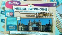 Jeu à gratter de la Francaise des Jeux  au bénéfice du Loto du patrimoine [FRANCOIS GUILLOT / AFP]