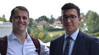 John Kolinski et l'étudiant Wassim Dhaouadi