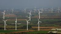 Un parc éolien en Bretagne