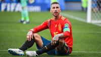 A l'image de Sergio Ramos, l'Espagne est à terre avec son élimination dès les 8es de finale par le pays hôte russe.