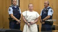 L'extrémiste australien Brenton Tarrant, auteur présumé des attentats de Christchurch, lors d'une comparution devant le tribunal le 16 mars 2019 [Mark Mitchell / POOL/AFP/Archives]