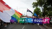 Un gay pride à Vienne, le 17 juin 2017 [ALEX HALADA / AFP/Archives]