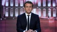 Emmanuel Macron le 27 avril 2017 sur TF1 [Eric FEFERBERG / POOL/AFP]
