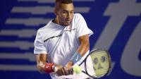 L'Australien Nick Kyrgios lors du match l'opposant au Serbe Novak Djokovic en quarts de finale le 2 mars 2017 à Acapulco [ALFREDO ESTRELLA / AFP]