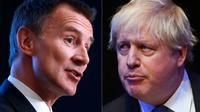 Jeremy Hunt (à gauche) et Boris Johnson  [Odd ANDERSEN, Paul ELLIS / AFP]