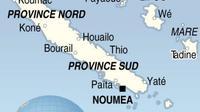 Carte de la Nouvelle-Calédonie [mmdf / AFP]