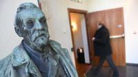 Buste d'Alfred Nobel à Stockholm le 3 octobre 2016 [JONATHAN NACKSTRAND / AFP]