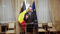 Le Premier ministre belge Charles Michel donne une conférence de presse le 8 décembre 2018 à Bruxelles à l'issue d'un conseil des ministres [NICOLAS MAETERLINCK / BELGA/AFP]