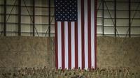 Le Président Barack Obama s'adresse aux troupes américaines  en Afghanistan lors d'une visite surprise sur la base de Bagram au nord de Kaboul, le 25 mai 2014 [Saul Loeb / AFP/Archives]
