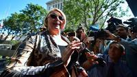 Samantha Geimer devant un tribunal de Los Angeles, le 9 juin 2017 [FREDERIC J. BROWN / AFP]