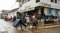 Des migrants honduriens arrivés à Mapastepec (sud du Mexique), le 24 octobre 2018. [Johan ORDONEZ / AFP]
