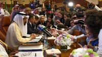 Le ministre saoudien de l'Energie, Khaled al-Faleh, s'exprime devant la presse en ouverture d'un sommet Opep-non Opep à Jeddah, en Arabie saoudite, le 19 mai 2019 [Amer HILABI / AFP]