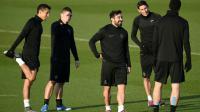 Les joueurs du PSG à l'entraînement à Saint-Germain-en-Laye, le 7 décembre 2015 [FRANCK FIFE / AFP]