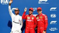Sebastian Vettel en pole position pour le GP du Canada devant Lewis Hamilton et Charles Leclerc le 8 juin 2019  [Will Taylor-Medhurst / GETTY IMAGES NORTH AMERICA/AFP]