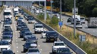 Trafic dense sur l'autoroute A63 à hauteur de Bordeaux le 3 août 2019 [MEHDI FEDOUACH / AFP/Archives]
