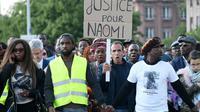 Famille et proche de Naomi Musengaparticipe à une marche silencieuse, le 16 mai 2018 à Strasbourg [FREDERICK FLORIN / AFP]