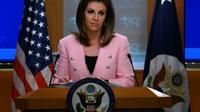 La porte-parole du département d'Etat Morgan Ortagus participe à une conférence de presse, le 10 juin 2019 à Washington [ANDREW CABALLERO-REYNOLDS / AFP/Archives]