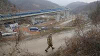 Le site de construction de la future ligne à grande vitesse Lyon-Turin, vue du côté italien à Chiamonte, le 23 mars 2013 [Marco Bertorello / AFP/Archives]