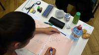 """Le ministre de l'Education Jean-Michel Blanquer, qui va dévoiler bientôt son projet de réforme du bac, s'est dit """"certain"""" dimanche qu'il n'y aura plus que """"quatre épreuves"""" en fin de terminale, contre 10 à 15 actuellement [FREDERICK FLORIN / AFP/Archives]"""