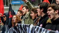 Des manifestants à Lille le 22 mars 2018 [Philippe HUGUEN / AFP]
