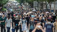 Des manifestants pro-démocratie à Hong Kong le 17 août 2019 [ISAAC LAWRENCE / AFP]