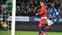 L'attaquant de Monaco Stevan Jovetic (C) buteur à Strasbourg le 9 mars 2018 [PATRICK HERTZOG / AFP]