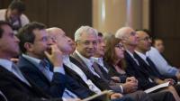 Claude Bartolone (C) lors du conseil national du PS le 14 juin 2014 à Paris [Fred Dufour / AFP/Archives]