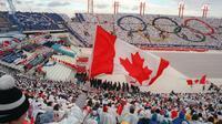 Cérémonie d'ouverture des JO de Calgary le 13 février 1988 [JONATHAN UTZ / AFP/Archives]
