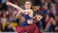 Gabriella Papadakis  Guillaume Cizeron lors du championnat du monde de danse sur glace le 31 mars 2016 à Boston [Geoff Robins / AFP]