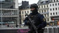 Un policier en patrouille, le 8 avril 2017 à Stockholm [Jonathan NACKSTRAND / AFP/Archives]