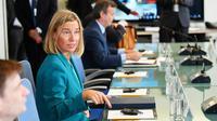 La cheffe de la diplomatie européenne Federica Mogherini, le 24 septembre 2018 à New York [MANDEL NGAN / AFP]
