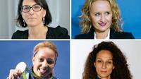 Nathalie Balla, Caroline Roux, Estelle Mossely et Houda Benyamina.