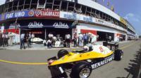 La Renault d'Alain Prost, lors du Grand Prix de France sur le circuit Paul Ricard du Castellet, le 17 avril 1983 [ / LEHTIKUVA/AFP/Archives]
