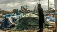 "Démantèlement du camp de migrants la ""Jungle"" le 3 mars 2016 à Calais [PHILIPPE HUGUEN / AFP/Archives]"