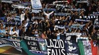 Des supporteurs de la Lazio, lors du match contre Nice, le 19 octobre 2017 à Nice [VALERY HACHE / AFP/Archives]