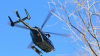 Un hélicoptère de la gendarmerie survole les Alpes-Maritimes, à Isola le 23 février 2014 [JEAN CHRISTOPHE MAGNENET / AFP/Archives]