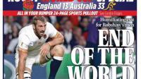 L'Angleterre est le premier pays hôte de l'histoire de la Coupe du monde de rugby à être éliminé avant les quarts de finale.