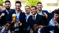 Les Bleus avaient déjà été reçus par Emmanuel Macron au lendemain de leur sacre en Russie en juillet dernier.