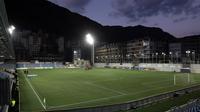 L'équipe de France affronte Andorre sur la pelouse synthétique de l'Estadi Nacional.