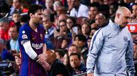 Lionel Messi souffre d'une fracture du radius du bras droit et sera indisponible au moins trois semaines.