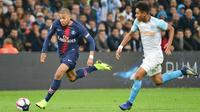 Kylian Mbappé avait offert la victoire au PSG au match aller à Marseille.