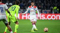 Houssem Aouar et les Lyonnais avaient réssité au FC Barcelone au match aller (0-0).