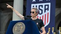Megan Rapinoe est prête à s'engager au côté du futur candidat démocrate.