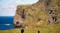 Les falaises de l'île de Foula, dans l'archipel des Shetland, en Écosse.